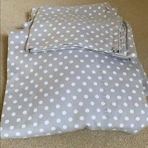 Brushed Sateen Cotton Percale Twin Sheet Set